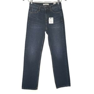 NEW! Zara Basic Denim Straight Leg Jeans, 00